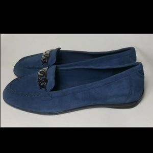 Easy Spirit Driving Loafer Suede Toe Sz 9.5 10 W